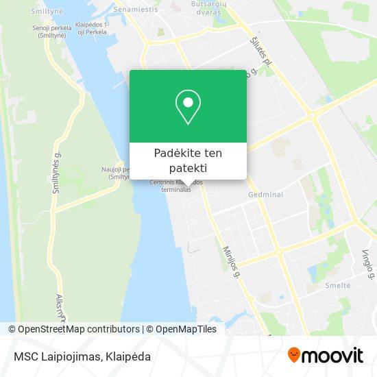 MSC Laipiojimas žemėlapis