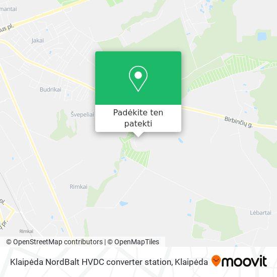 Klaipėda NordBalt HVDC converter station žemėlapis