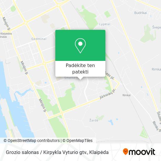 Grozio salonas / Kirpykla Vyturio gtv. žemėlapis