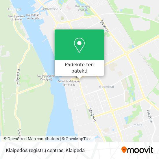Klaipėdos registrų centras žemėlapis
