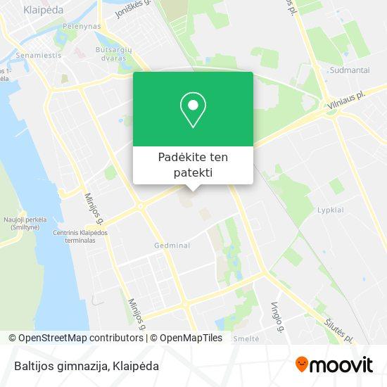 Baltijos gimnazija žemėlapis