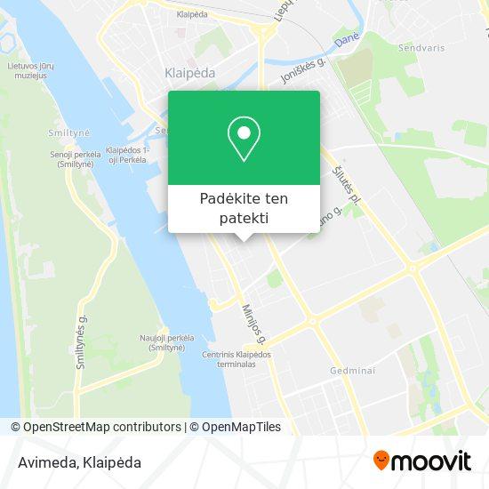 Avimeda žemėlapis