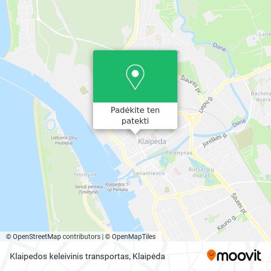 Klaipedos keleivinis transportas žemėlapis