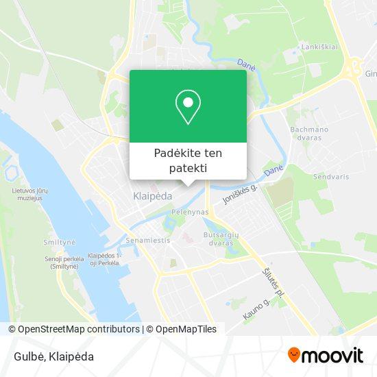 Gulbė žemėlapis