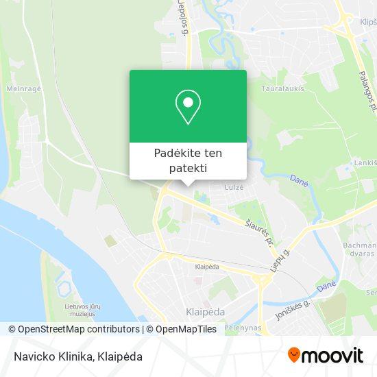 Navicko Klinika žemėlapis