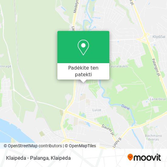 Klaipėda - Palanga žemėlapis