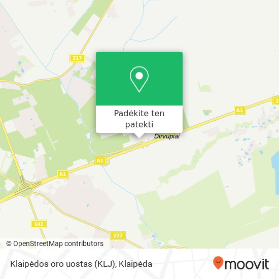 Klaipėdos oro uostas (KLJ) žemėlapis