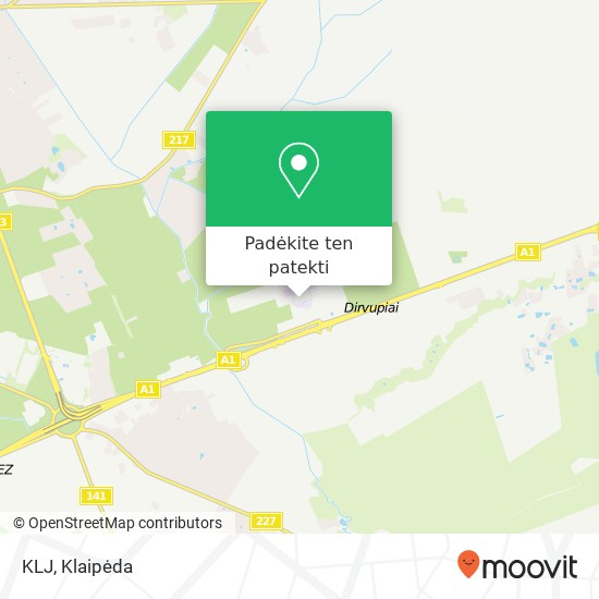 KLJ žemėlapis