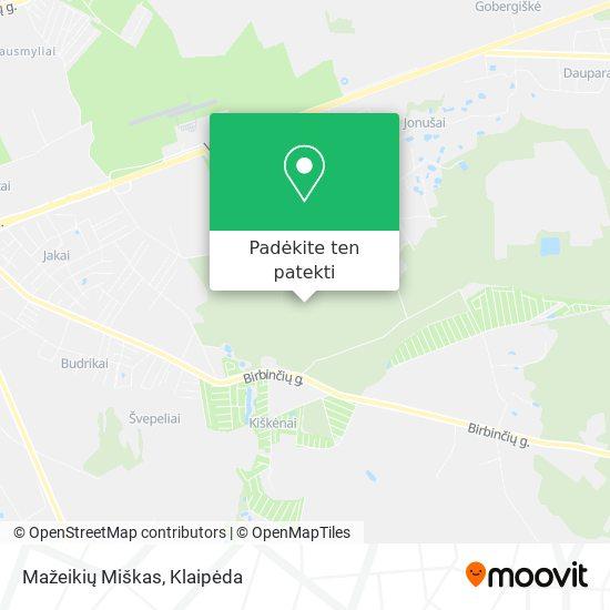 Mažeikių Miškas žemėlapis