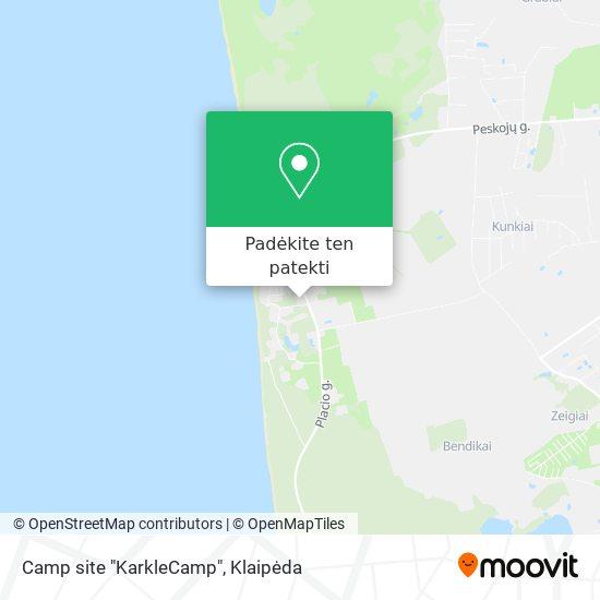 "Camp site ""KarkleCamp"" žemėlapis"