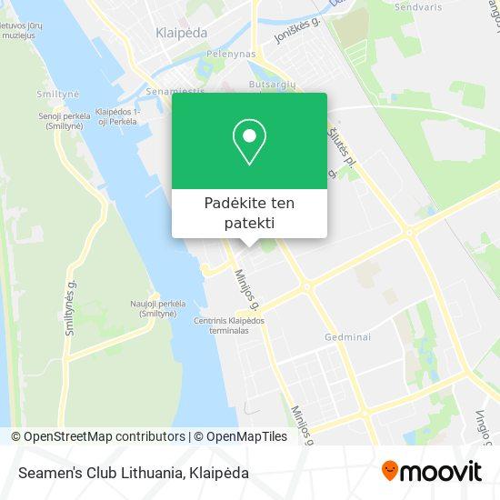 Seamen's Club Lithuania žemėlapis