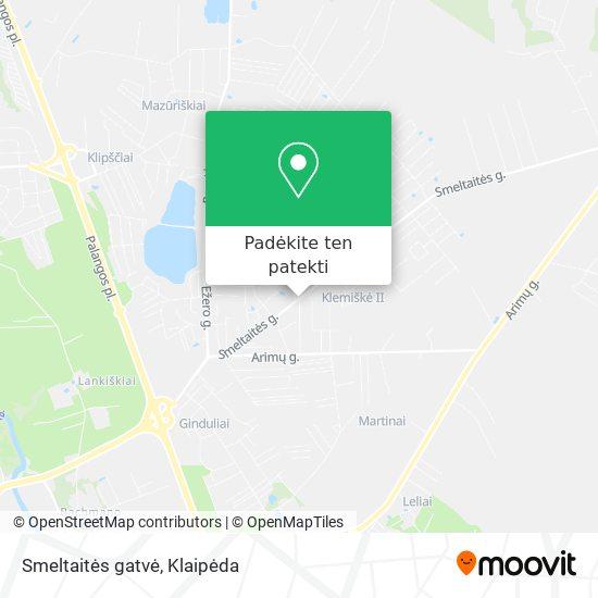 Smeltaitės gatvė žemėlapis