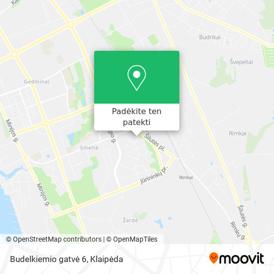 Budelkiemio gatvė 6 žemėlapis