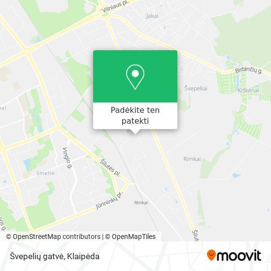 Švepelių gatvė žemėlapis