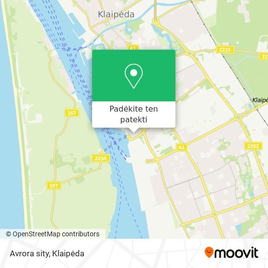 Avrora sity žemėlapis