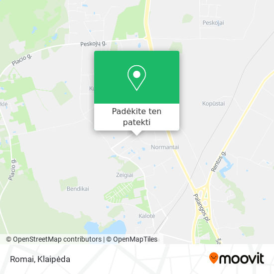 Romai žemėlapis