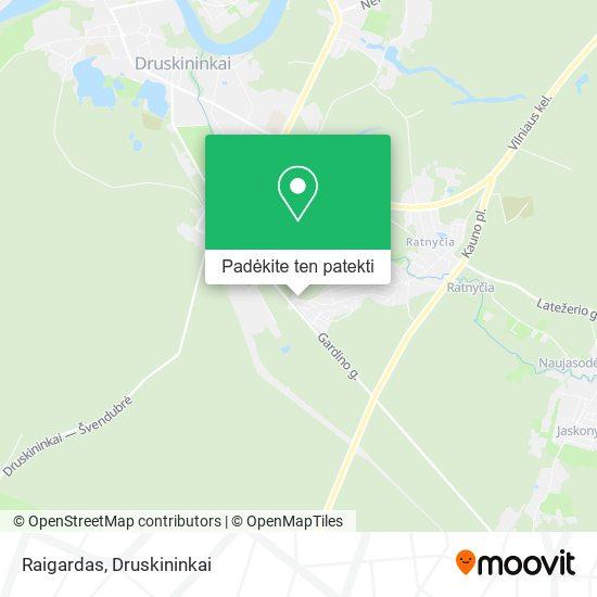 Raigardas žemėlapis