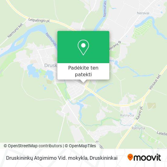 Druskininkų Atgimimo Vid. mokykla žemėlapis