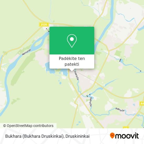 Bukhara (Bukhara Druskinkai) žemėlapis