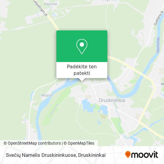 Svečių Namelis Druskininkuose žemėlapis