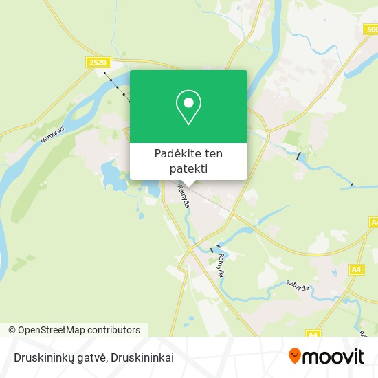 Druskininkų gatvė žemėlapis