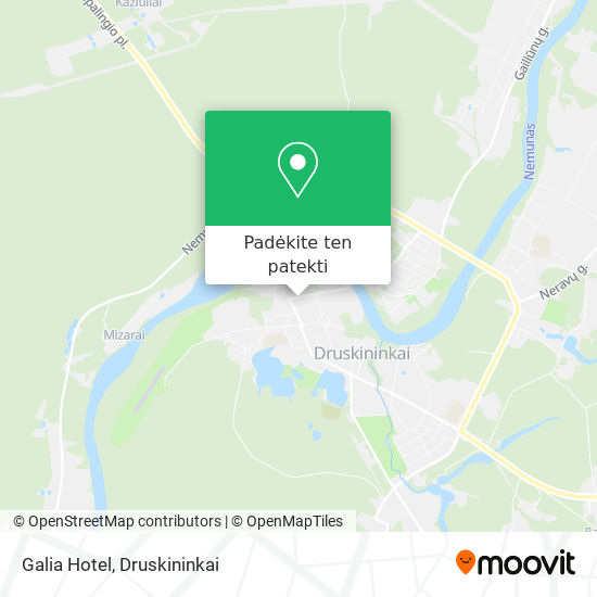 Galia Hotel žemėlapis