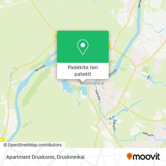Apartment Druskonis žemėlapis