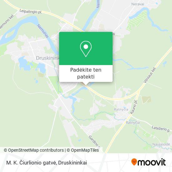 M. K. Čiurlionio gatvė žemėlapis