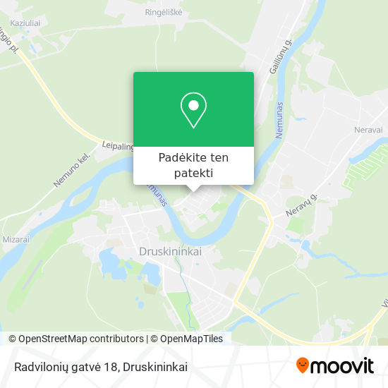 Radvilonių gatvė 18 žemėlapis
