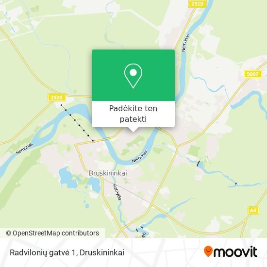Radvilonių gatvė 1 žemėlapis