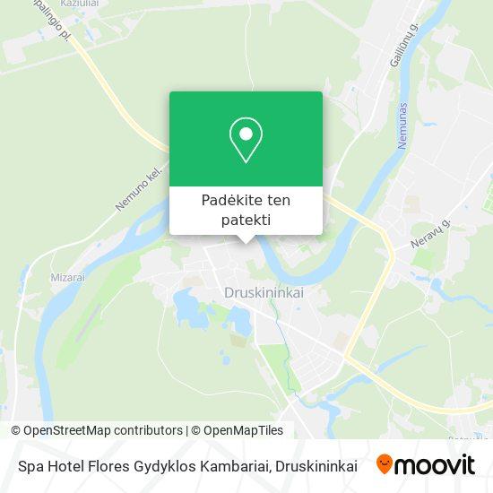 Spa Hotel Flores Gydyklos Kambariai žemėlapis