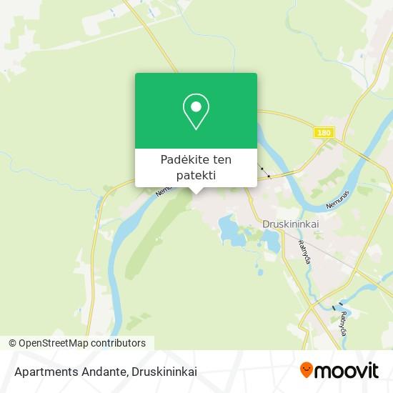 Apartments Andante žemėlapis