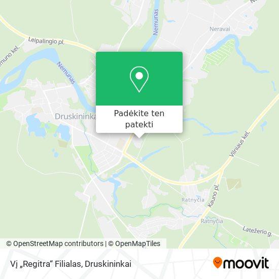 "Vį ""Regitra"" Filialas žemėlapis"