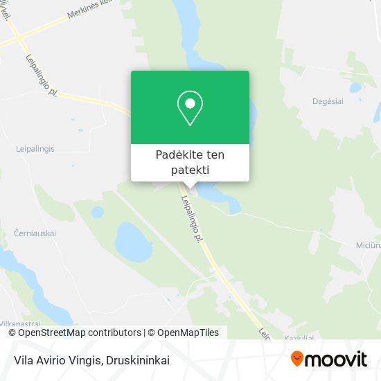 Vila Avirio Vingis žemėlapis