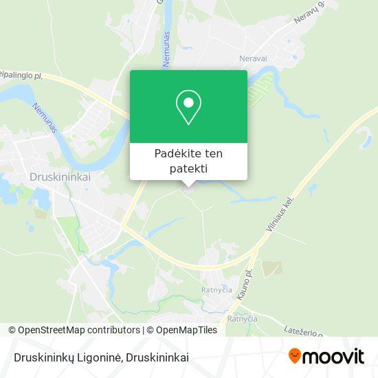 Druskininkų Ligoninė žemėlapis