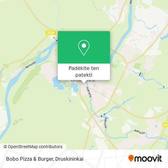 Bobo Pizza & Burger žemėlapis