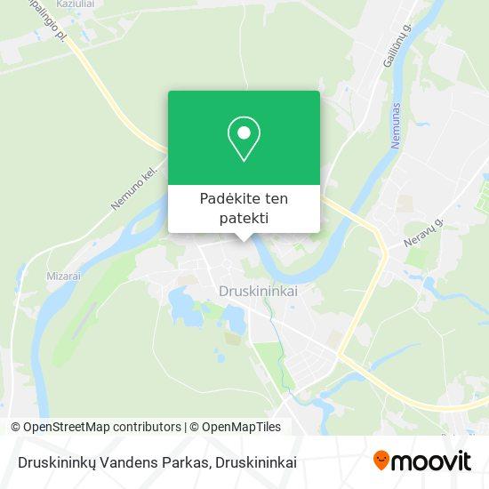Druskininkų Vandens Parkas žemėlapis