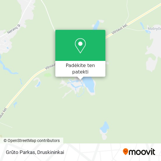 Grūto Parkas žemėlapis