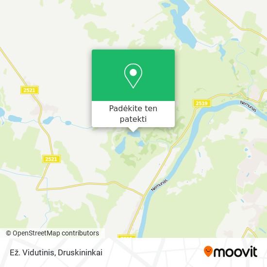 Ež. Vidutinis žemėlapis