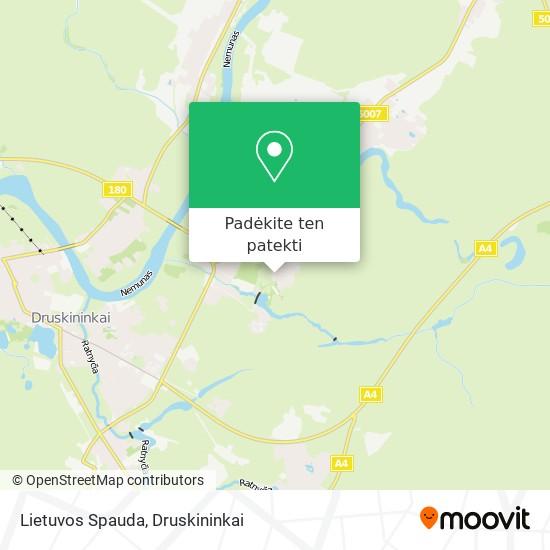Lietuvos Spauda žemėlapis
