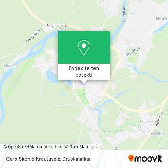 Gero Skonio Krautuvėlė žemėlapis