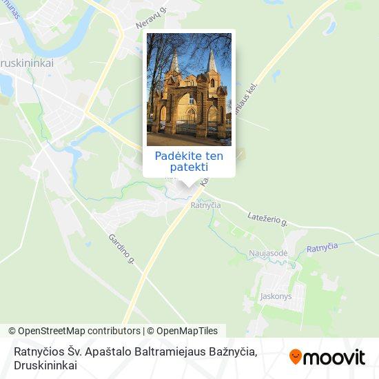 Ratnyčios Šv. Apaštalo Baltramiejaus Bažnyčia žemėlapis