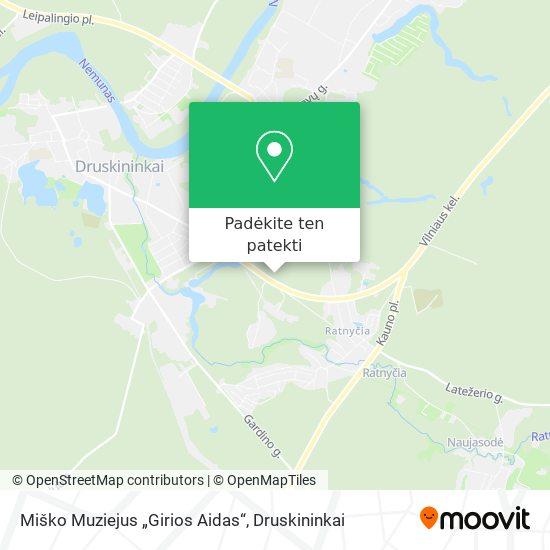 """Miško Muziejus """"Girios Aidas"""" žemėlapis"""