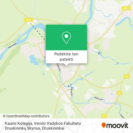 Kauno Kolegija, Verslo Vadybos Fakulteto Druskininkų Skyrius žemėlapis