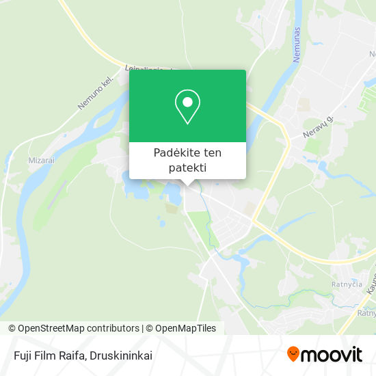 Fuji Film Raifa žemėlapis