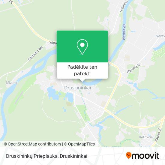 Druskininkų Prieplauka žemėlapis