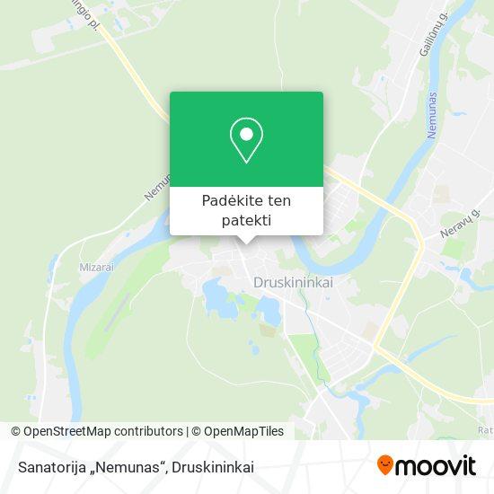 """Sanatorija """"Nemunas"""" žemėlapis"""