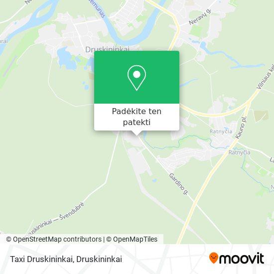 Taxi Druskininkai žemėlapis