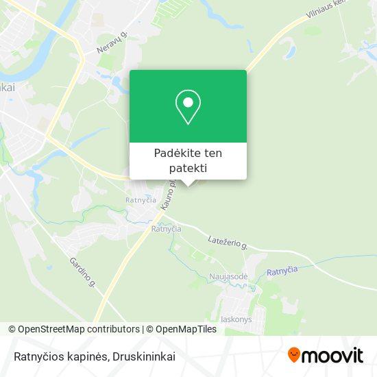 Ratnyčios kapinės žemėlapis