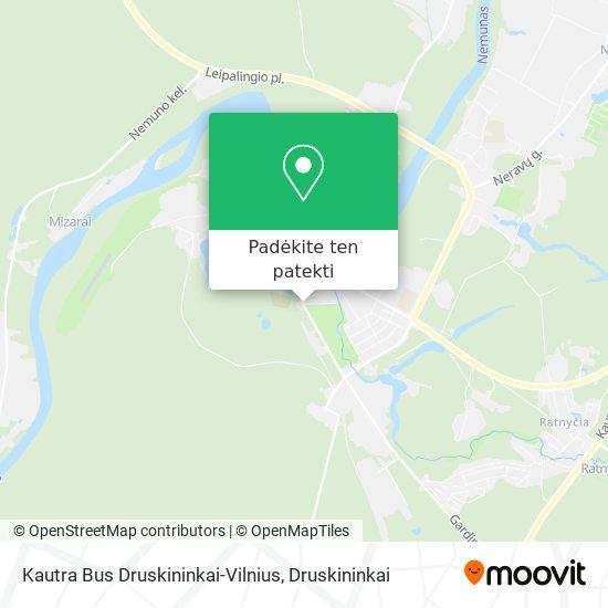 Kautra Bus Druskininkai-Vilnius žemėlapis